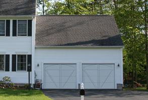 Garage Door Courtyard