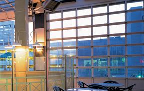 The Model 521 Is A Sectional Aluminum Door Appropriate For Environments  Where Maximum Light Infiltration And/or Visual Access Is Required.