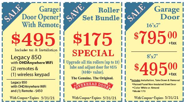 overhead door company coupons
