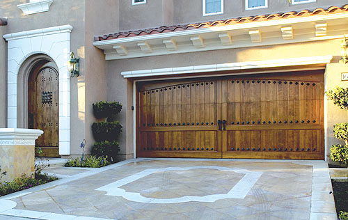 custom wood clad doors